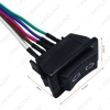 Picture of 5Pin 20A 24V/12V Window Switch Button With Red/Green LED Light Wire Adapter for Universal All Autos