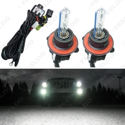 Picture of 2x 35W Car AC HID Bulbs Xenon Headlight Lamp H13/9008 Hi/Lo Bi-Xenon With Wire Harness