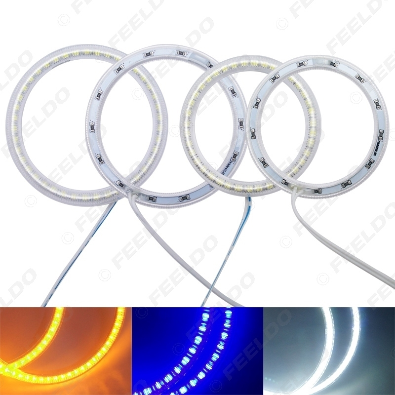Picture of 4Pcs/Set Auto SMD Angel Eyes Light Halo Ring For Lada Vaz 2109 Headlight Lamp