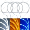 Picture of 4Pcs/Set Auto SMD Angel Eyes Light Halo Ring For Lada VAZ 2106 Headlight Lamp