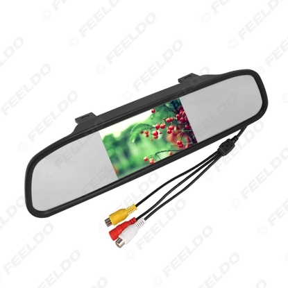 """Picture of 4.3"""" TFT LCD Digital Car Rearview Monitor With Mirror For Reversing Backup Camera DVD/VCD Video 12V/24V"""