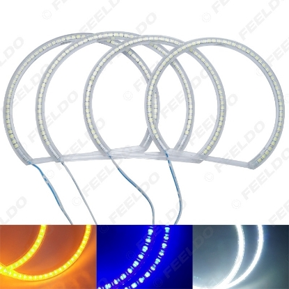 Picture of Auto SMD Angel Eyes Light Halo Rings DRL For BMW E46 NON Projector Headlight 3-Color