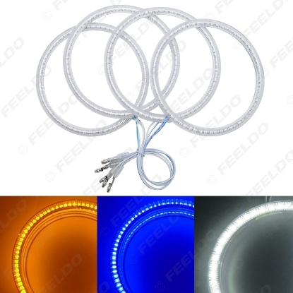 Picture of Auto SMD Angel Eyes Light Halo Rings DRL For BMW E30/E32/E34 Headlight 3-Color