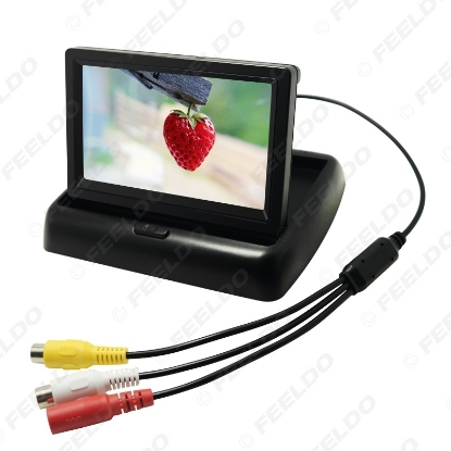 Picture of 4.3inch foldable TFT LCD Digital Car Rearview Monitor For Reversing Backup Camera DVD VCR