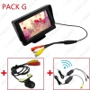 """Picture of 4.3"""" TFT LCD Stand-alone Monitor With Rear View Parking Backup Camera RCA Video System 2.4G Wireless & Cigarette Lighter Optional"""