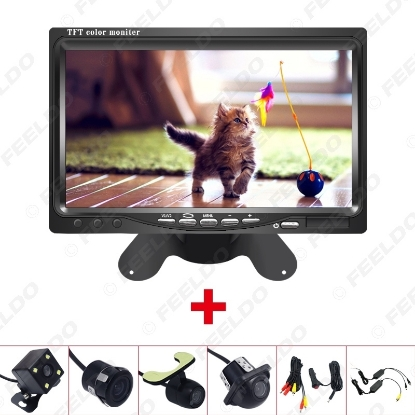 """Picture of DC12V 7"""" LCD Monitor Display With Rear View Parking Camera Video System with 2.4G Wireless & Cigarette Lighter Optional"""