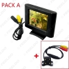 Picture of 2.5 Inch LCD TFT Monitor With Rear View Parking Camera RCA Video System 2.4G Wireless & Cigarette Lighter Optional