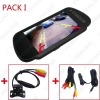 """Picture of 7"""" TFT LCD Car Rearview Mirror Monitor With Reverse Backup Camera Video System 2.4G Wireless & Cigarette Lighter Optional"""