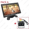 """Picture of DC 9V-36V Bus Truck 7"""" LCD Monitor With Rear View Parking Camera Video System 2.4G Wireless & Cigarette Lighter Optional"""