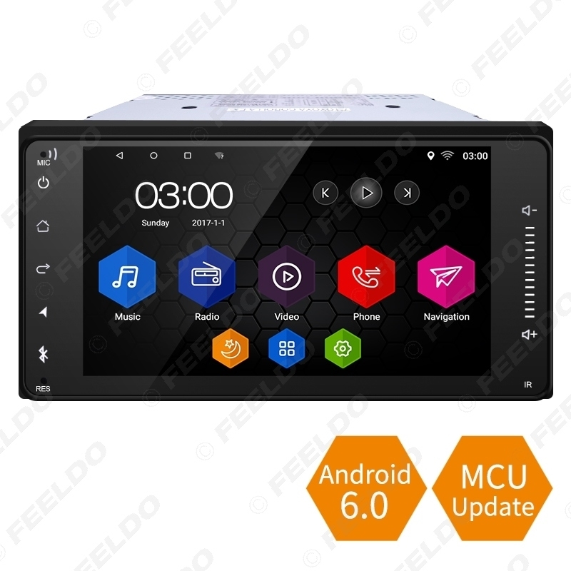 Picture of 7inch Short Case Android 6.0 Quad Core Car Media Player With GPS Navi Radio For Toyota Universal 2DIN RAV4/Corolla/HILUX/Land Cruiser/Prado/Fortuner/Camry