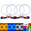 Picture of Car Xenon Cotton Angel Eyes Halo Ring Light For Ford Focus 08+ Bi-Xenon Headlight DRL