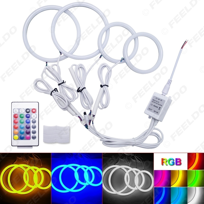 Picture of Car Xenon Cotton Angel Eyes Halo Ring Light For Volkswagen Golf 4 Headlight Car Styling