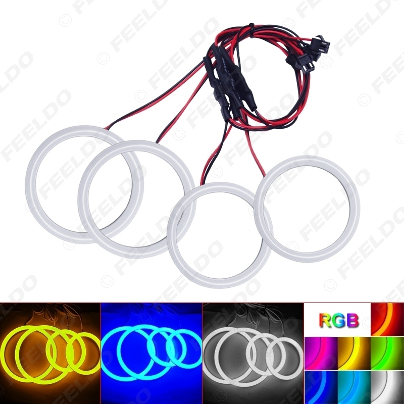 Picture of Car Xenon Cotton Angel Eyes Halo Ring Light DRL For Lada Vaz 2109 Headlight