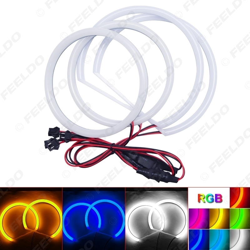 Picture of Car Xenon Cotton Angel Eyes Halo Ring Light DRL For Mitsubishi Lancer Non Projector Headlight