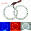 Picture of 2pcs/lot 80mm Car Angel Eyes 1210/3528 24SMD LED Headlight Halo Ring Angel Eye Lighting White Red Blue