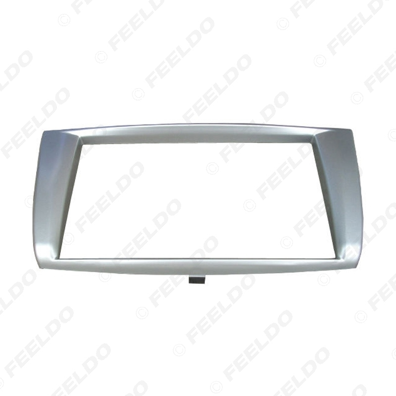 Picture of 2Din Car CD/DVD/Radio Stereo Face Frame Panel For Proton Persona Gen II Refitting Frame Dash Fascia Kits Silver