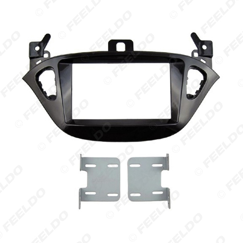 Picture of Car 2 DIN Refitting Radio Fascia Frame for Opel Adam 2013 Stereo Dash face Plate Frame Panel Mount kit Adapter