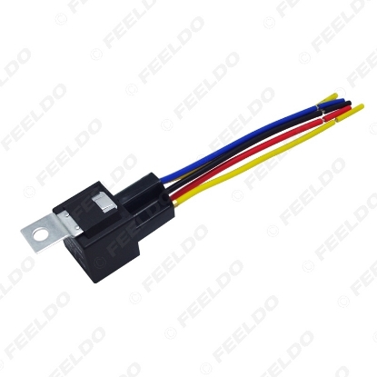 Picture of Car Automotive JD1914 5-pin 12VDC 40/30A Constant-Closed Relay Controller With Wire Harness