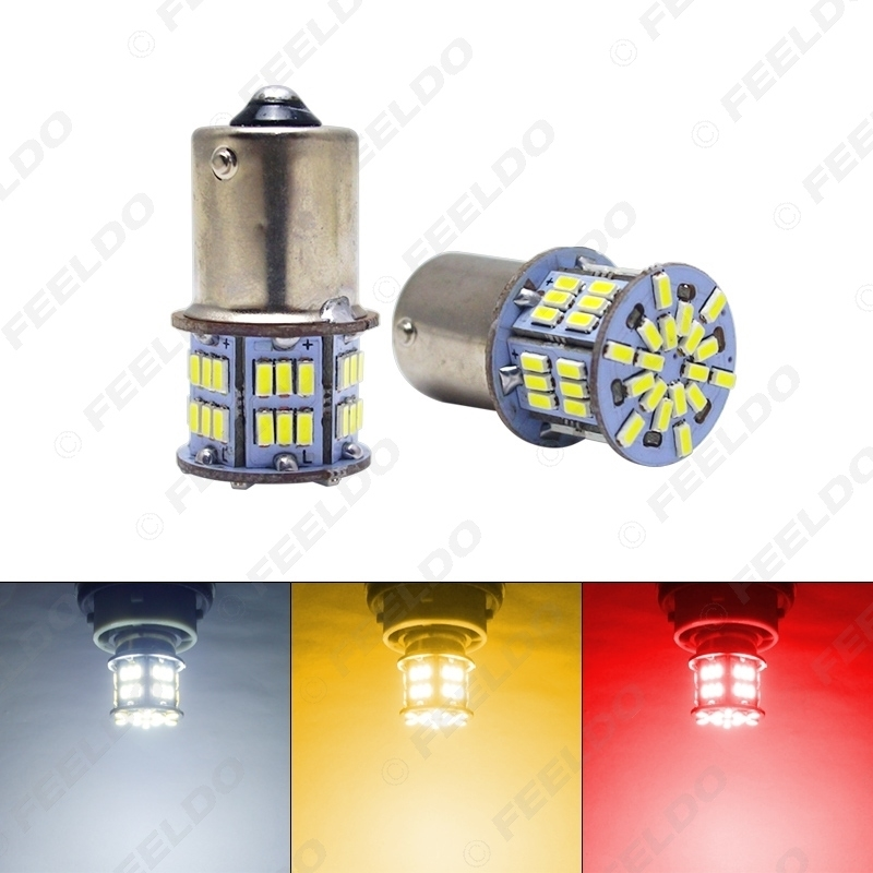 Picture of DC12V 1156 BA15S/P21W 3014 Chip 54LED Car Turn LED Lamp Signal LED Light Tail LED Bulb White/Red/Yellow