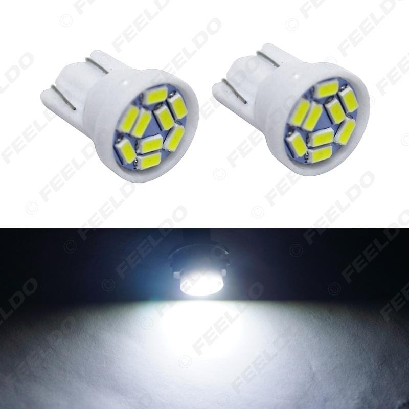 Picture of White Car T10 194 168 Interior LED Bulb Light 3014 Chip 9SMD Reading Light Lamp Bulb Styling Lamp DC12V