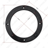 """Picture of 4""""/5""""/6""""/6.5"""" Universal Car Stereo Audio Solid Speaker Spacer Adapter Hold Refitting Mat for All Cars Anti-Slip Mat"""