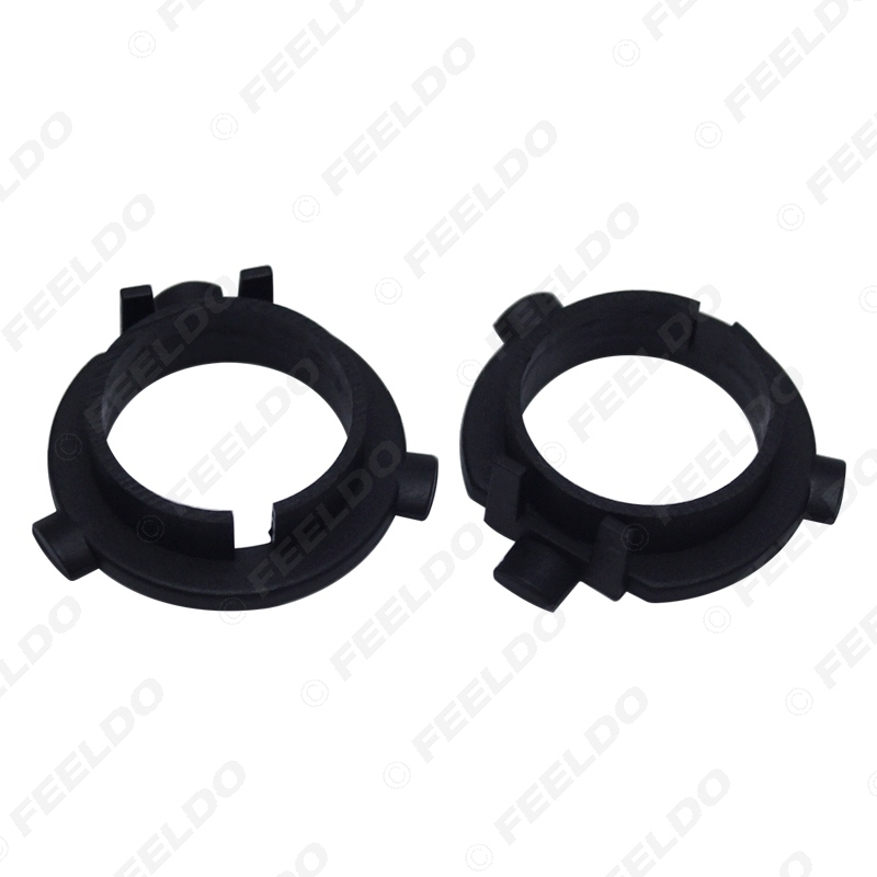 Picture of 2PCS Car LED Headlight Bulbs Holder H7 Socket Adapter Base For KIA K3/K4/K5/Sorento Hyundai Veloster/Snata Fe
