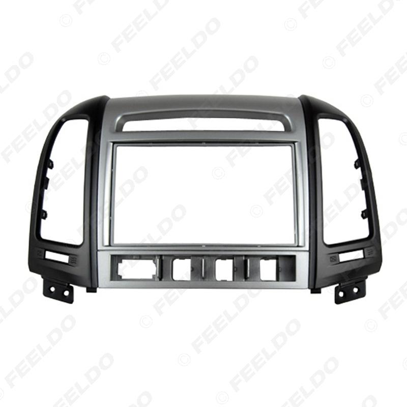 Picture of Car 2Din DVD Radio Fascia Frame for Hyundai Santafe High-End 07-12 Installation Trim Dash Kit Frame Panel Adapter