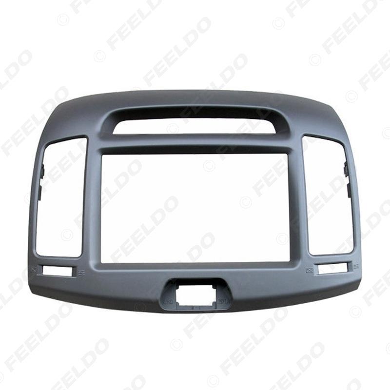 Picture of Car 2Din DVD Radio Fascia Frame for Hyundai Elantra 2006-2011(Korean Type,LHD) Stereo Face Panel Trim Kit