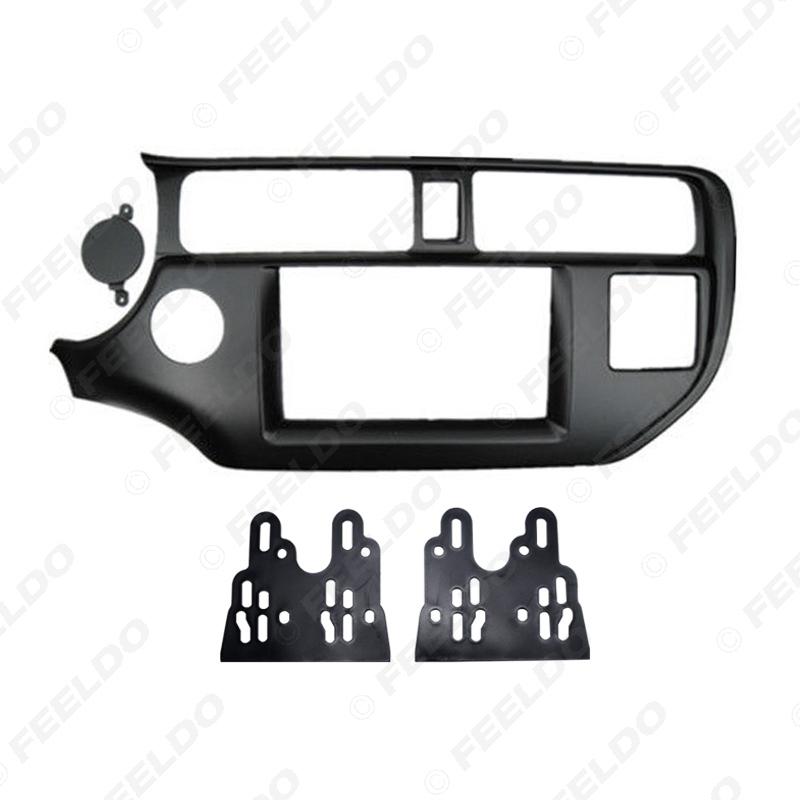Picture of 2Din Car Refitting DVD Radio Fascia Frame for KIA Rio/K3/Pride 2011+(LHD) Stereo Dashboard Mount Panel Trim Kit