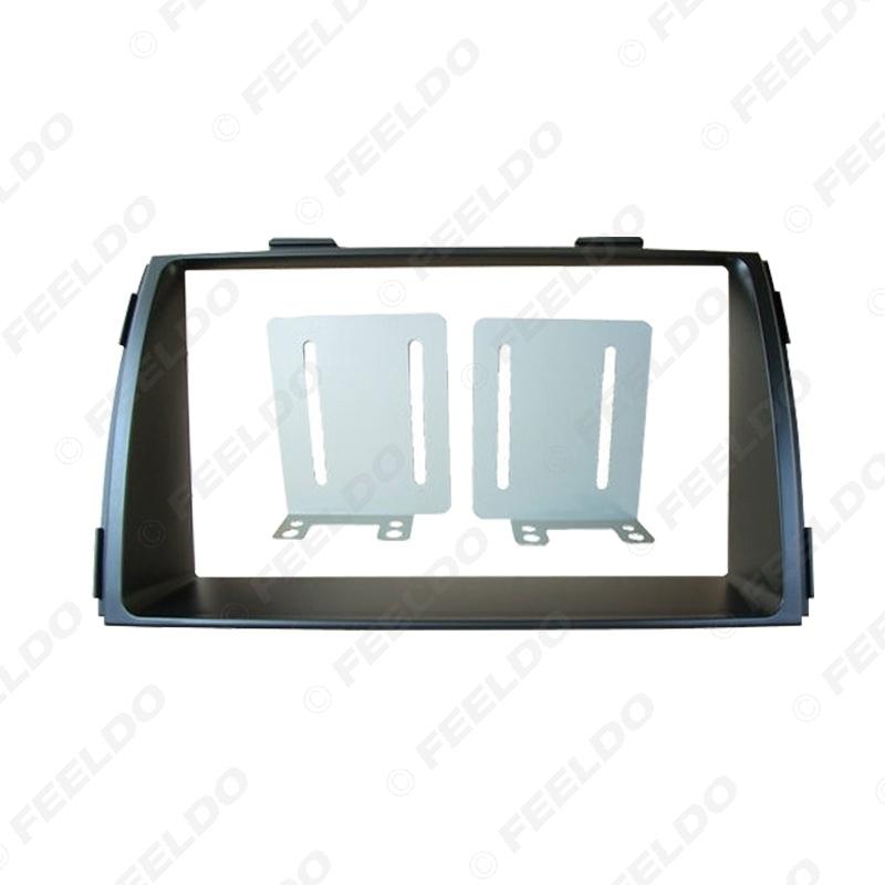 Picture of 2Din Car Refitting DVD Radio Fascia Frame for KIA Sorento 2010+ Dashboard Installation Mount Frame Panel Trim Kit