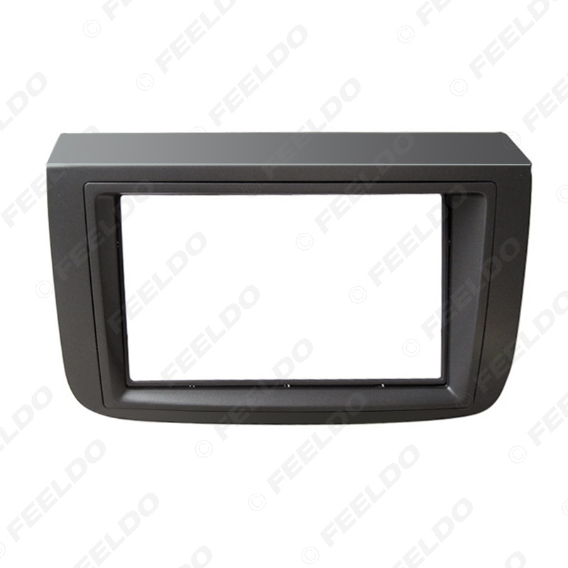 Picture of Car 2Din Radio Fascia Frame for Fiat Croma 2005 Refitting DVD Dashboard Mount Face Panel Trim Kit