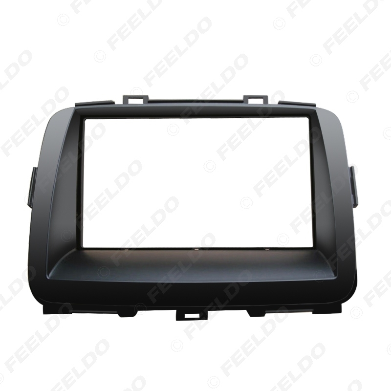 Picture of Car Double Din DVD Radio Fascia Frame for KIA Carens 2013 Dashboard Panel Mount Adapter Trim Kit