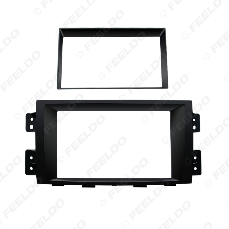 Picture of Car 2DIN Radio Fascia Frame for KIA Borrego Mohave 2010 Plate Panel Dashboard Trim Mount Installation Frame Kit