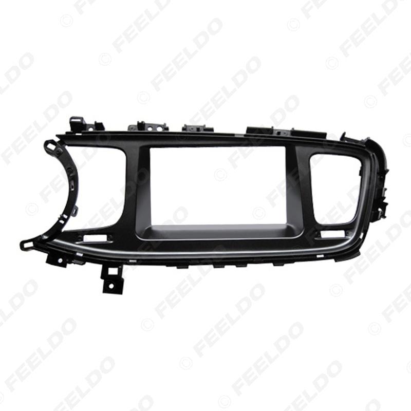Picture of 2DIN Car CD/DVD Radio Fascia Plate Panel Frame for KIA K5 2013 Panel Left Hand Dashboard Trim Mount Kit