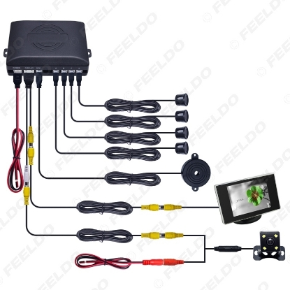 Picture of 1set Car 4-sensor Parking Sensor With 3.5inch Monitor and 4-LED CCD Camera Rear View Reversing System