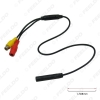 Picture of Car Backup Reverse Camera 4-Pin Male To CVBS RCA Female Connector Signal Power Adapter Wire Harness