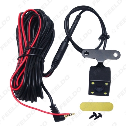 Picture of Car 2.5mm(4Pin) Jack Port Video Port Rear View Camera With LED Night Vision For DVR Video Recorder