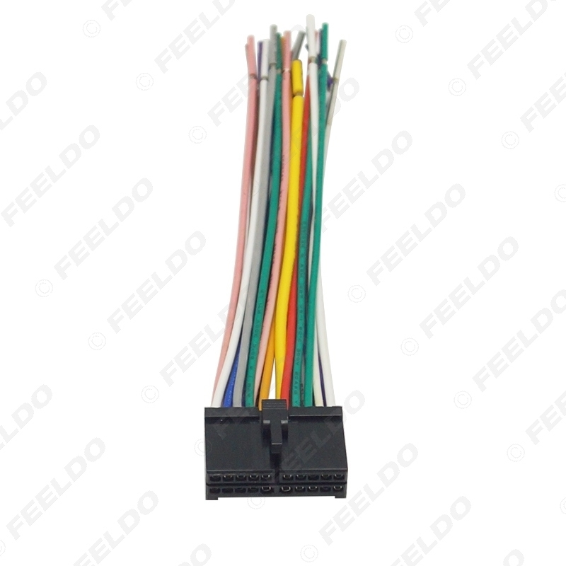 Picture of 20Pin Universal Aftermarket Car Head Unit DVD Stereo Radio Wiring Harness Cable Plug