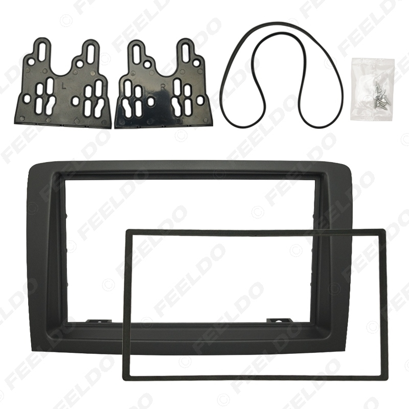 Picture of 2 DIN Car Stereo Radio Fascia Plate Panel Frame For Fiat Idea Audio Panel Dashboard Frame Trim Mount Kit