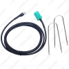 Picture of Auto Mini ISO 6pin to 3.5MM Female Jack AUX Cable with Removal Keys for Renault OEM Radio Wire Adapter