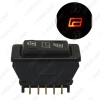 Picture of Auto 12V/24V 20A Universal 5pins Car Power Window Switch Button With Illumination Indicator Red Light