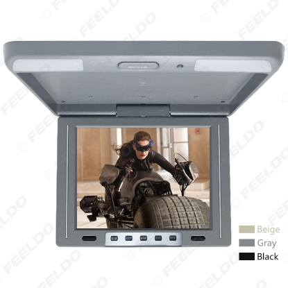 """Picture of 3-Color 12"""" Car/Bus TFT LCD Roof Mounted Monitor Flip Down Monitor 2-Way Video Input 12V"""