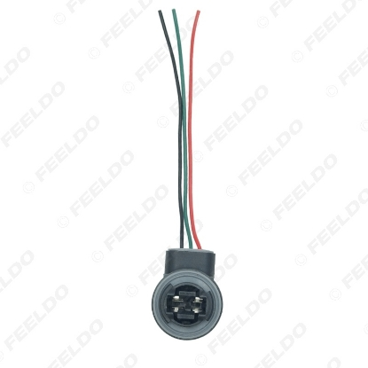 Picture of Car 3157/3057/3155/3357/3457/3757/4057/4157/W2.5X16Q LED Bulb Brake Signal Light Socket Harness Wire