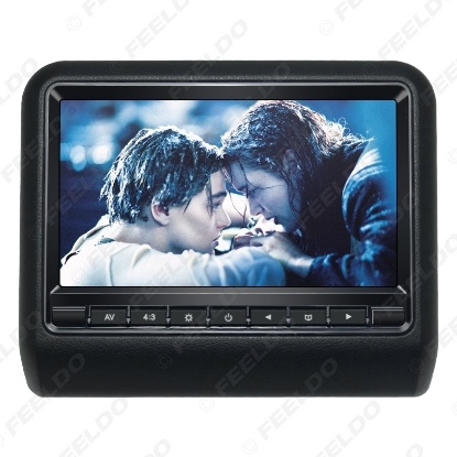 Picture of 9 Inch Universal Car Headrest Monitors Digital LCD AV HD Monitor With Remote Control 3-Color Optional #3857