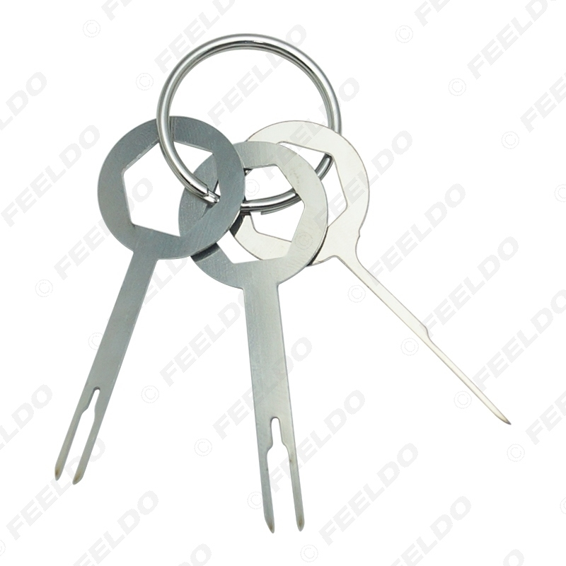 Picture of 3pcs Car Terminal Wiring Crimp Connector Extractor Pin Removel Key Tool Auto Terminal Removal Tool Kit