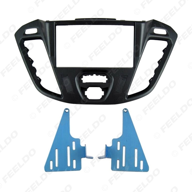Picture of Car 2DIN Audio Radio Fascia Plate Panel Frame for 2013 Ford Transit Custom Installation Trim Dash Kit