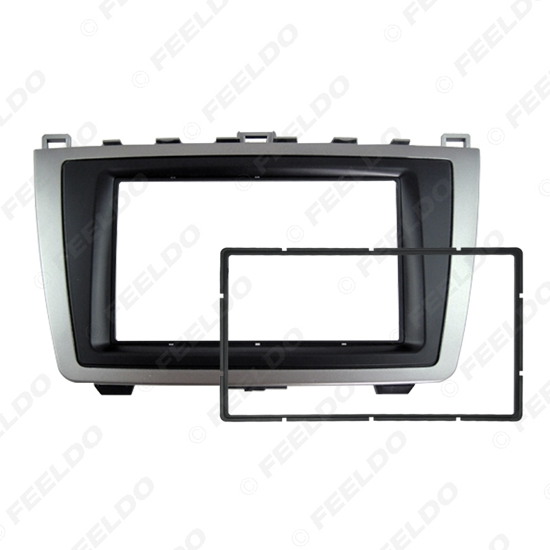 Picture of Car 2DIN Audio Radio Fascia For Mazda 6 2009-2013 Stereo Plate Panel Frame Installation Dash Mount Trim Kit