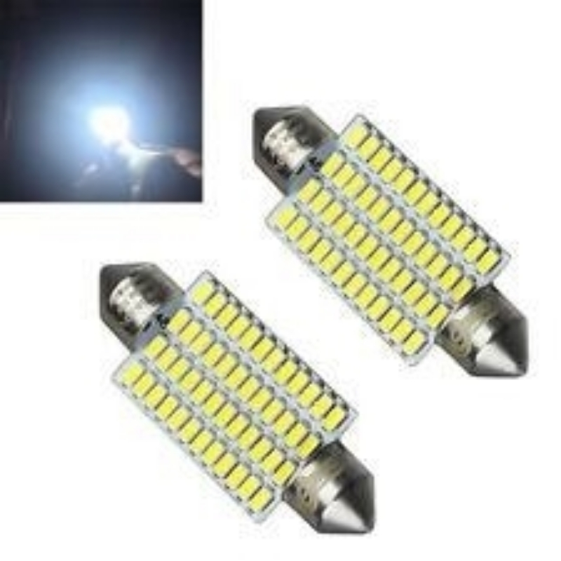 Picture of 1PC White 41mm 48LED 3014SMD Festoon Dome Lights