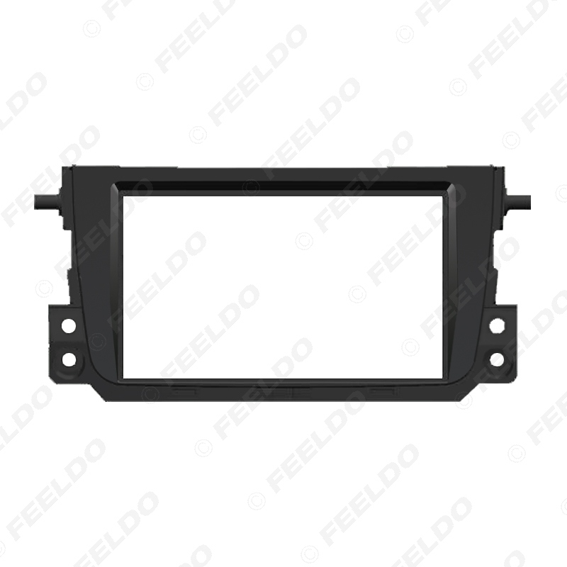 Picture of Black 2Din Car Stereo Audio Panel Fascia Frame Trim For Mercedes BENZ Smart Fortwo 2011 Radio Dash Refitting Kit