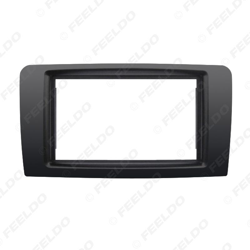 Picture of Car Double Din Radio Fascia Frame Trim for Mercedes BENZ ML W164 2006-2010 Installation Audio Dash Panel Kit Frame